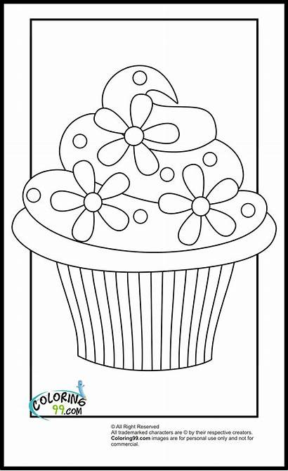 Cupcake Coloring Pages Printable Cupcakes Colouring Sheets
