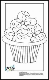 Coloring Cupcake Pages Printable Colouring Cupcakes Colors sketch template