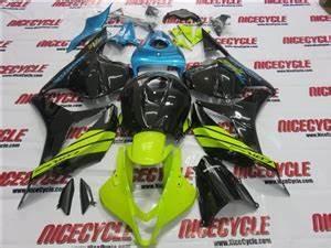 2009 2012 Honda CBR 600RR Neon Green Blue Fairings
