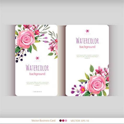 flower business card  vector