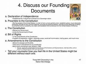 Ppt citizenship in the nation merit badge powerpoint for 4 founding documents