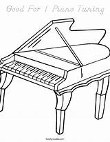 Coloring Harpsichord Piano Song Halloween Play sketch template