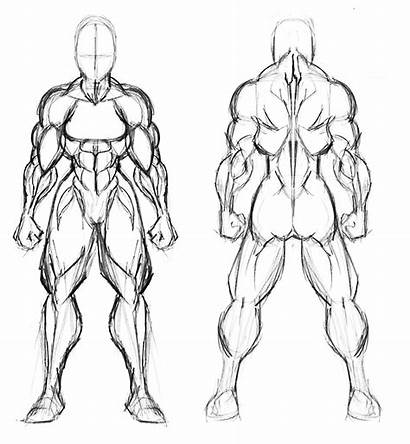 Template Woman Superhero Draw Own Muscled Superwoman
