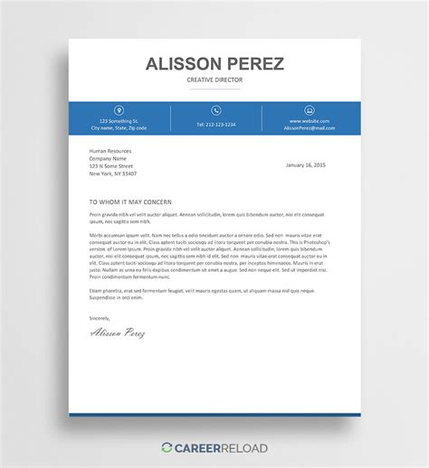 cover letter templates  microsoft word