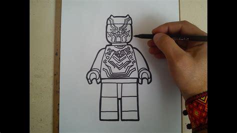como dibujar  pantera negra lego   draw  black