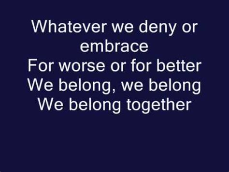 we belong pat benatar official lyrics
