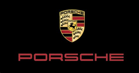 porsche logo black background porsche garaje grafico