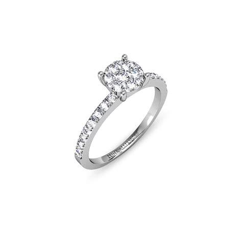 bague mariage or blanc solitaire diamant or blanc bague mariage zeina