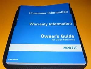 2020 Honda Fit Owners Manual Set Guide 20  Case Lx Ex Ex