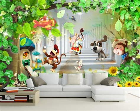 Wallpaper With Animals For Rooms - custom 3d wallpaper room background decorative mural