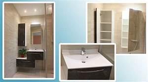 meuble decale de 100 cm pour une petite salle de bains With meuble pour petite salle de bain