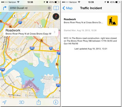 how to show traffic info in apple maps isource