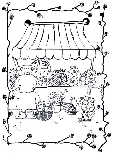 greengrocer  children coloring page