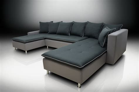 dual chaise sectional chaise corner sofa bed greg black grey