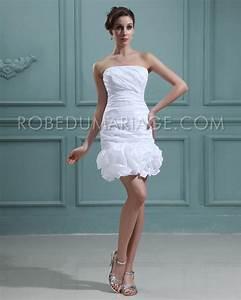 Robe Mariée Courte Pas Cher : robe de mariage pas cher en taffetas fourreau courte fleurs robe206410 ~ Mglfilm.com Idées de Décoration