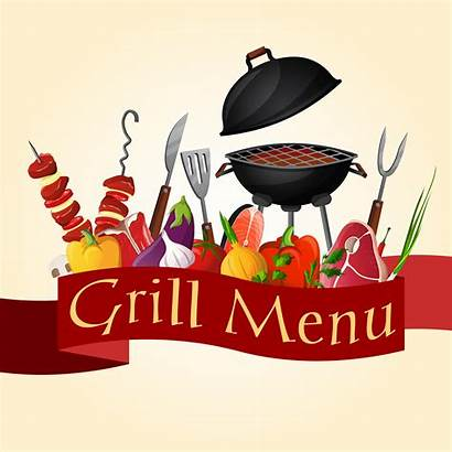 Bbq Grill Background Clipart Vector Barbecue Party