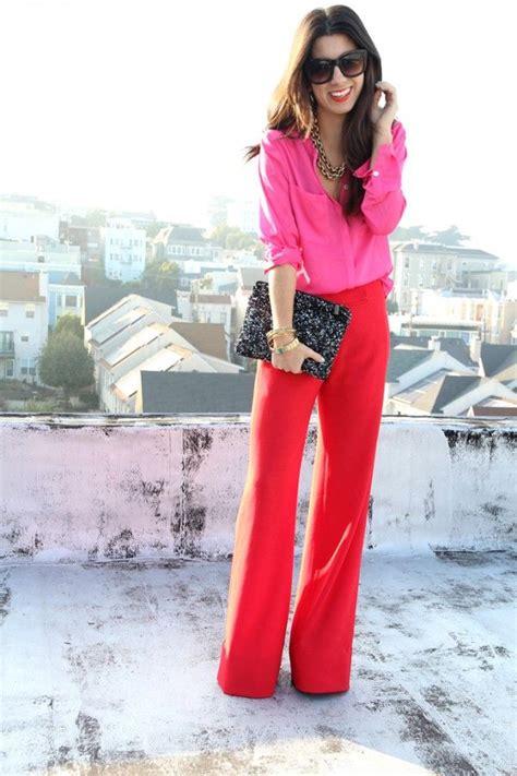 Rosa Und Rot Kombinieren by 8 Ways To Rock Pink Style Rote Hosen Wintertyp