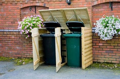 garbage bin storage shed sheds bin storage and trash bins on