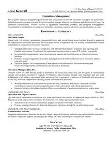 planning manager resume sle logistics specialist cover letter this logistics