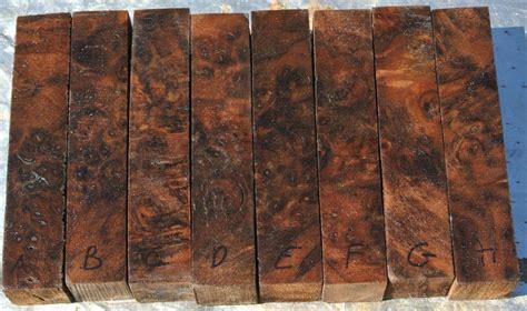 stabilized claro walnut burl  blanks