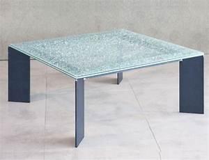 Table En Verre Pas Cher : table verre brise ~ Teatrodelosmanantiales.com Idées de Décoration