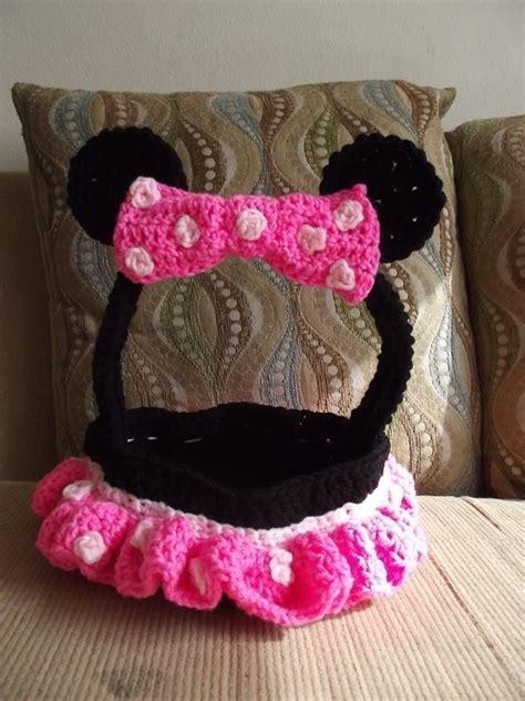 minnie mouse crochet easter basket  knit  crochet