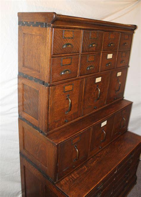 bargain johns antiques antique oak file filing cabinet