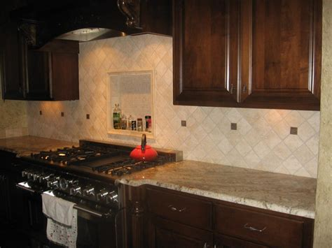 kitchen dining stone splash nature backsplash