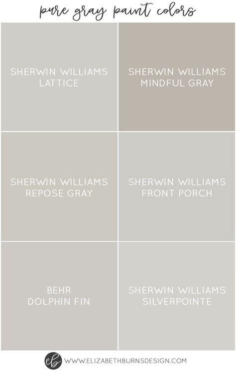 the best pure grey paint colors paint colors paint