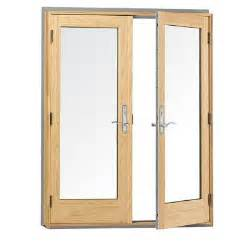 andersen 60 in x 80 in 400 series wood hinged inswing patio door 9117172 the home depot