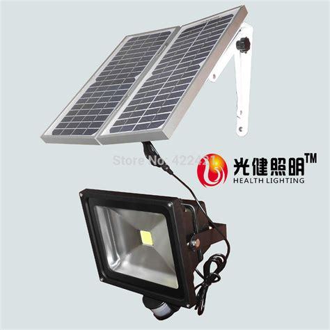 50w solar pir sensor light solar panel 12w led pir