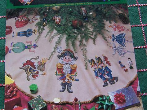 new 1990s counted cross stitch patterns nutcracker christmas tree skirt