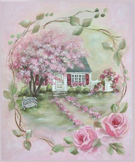 rose cottage printies mini roses romance painting