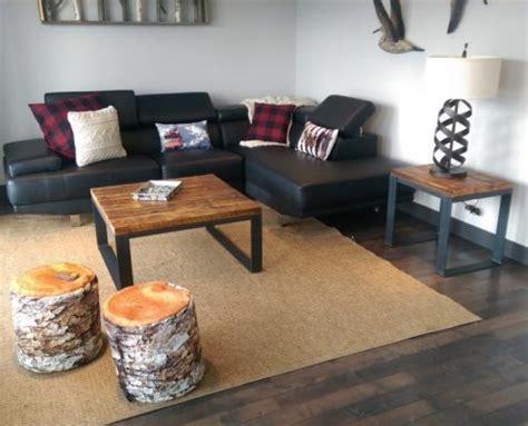 grange cuisine table de salon bois métal table basse table café bois