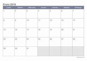 Calendario enero 2018 para imprimir iCalendario net