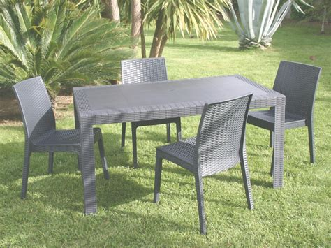 table et chaise de jardin en resine beautiful table jardin resine imitation beton gallery