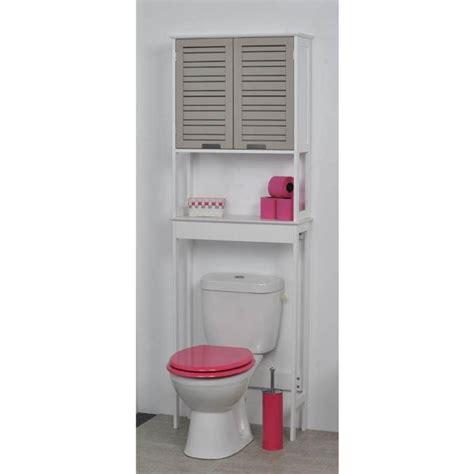 meuble dessus wc miami taupe achat vente colonne