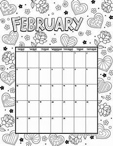 February 2019 Coloring Calendar