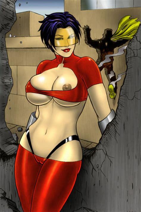 Supervillain Naked Cameltoe Bomb Queen Hardcore Nude