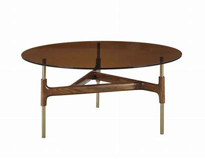 Walnut Coffee Round Glass Modrest Lawson Tables