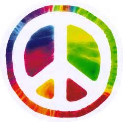 "Psychedelic Peace Sign - Peace / Anti-War Bumper Sticker / Decal (4.75"" circular)"