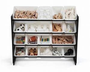 Humble, Crew, Super, Sized, Toy, Storage, Organizer, With, 16, Storage, Bins, Black, White