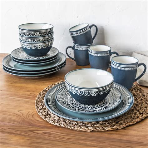 four plates service salad includes dinner bowls stoneware dinnerware quality