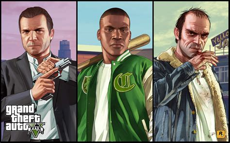 The Three Main Characters Of Gta 5