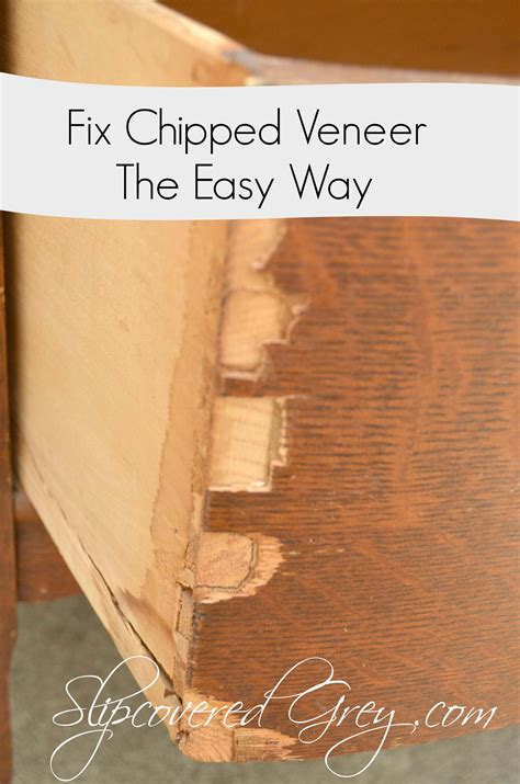 fix chipped veneer  easy    tips