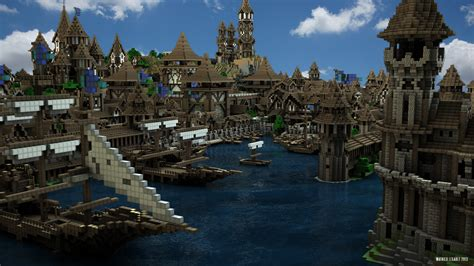 Minecraft Boat Town by City Of Kargeth Docks By Maty241 On Deviantart