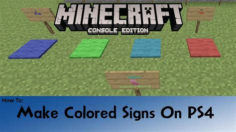 how to make colored signs in minecraft minecraft how to make colored signs ps4 with color codes