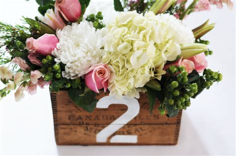 diy vintage box centerpieces project wedding