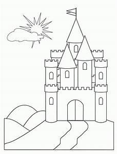 Medieval Castle    Medieval Castle Front Face Coloring