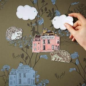 Papier Peint Magnétique : papier peint magn tique woodland et aimants vert kaki sian ~ Premium-room.com Idées de Décoration